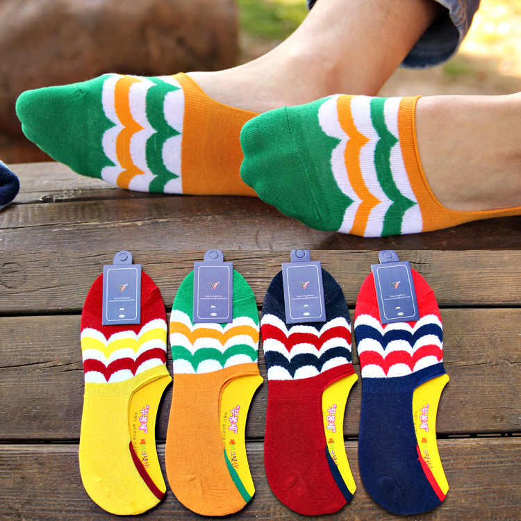 20 pieces 10pairs new South Korea Peacock trend of men s silica gel socks antiskid shoes