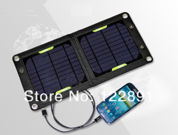 HOT Sell 6W High Efficiency Outdoor Solar Panel Charger  Folding Solar Charging Bag 3pcs/lot Free Shipping<br><br>Aliexpress