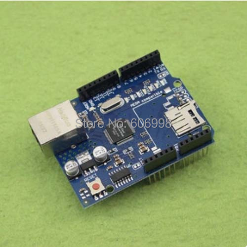 2pcs/lot Ethernet W5100 Network Expansion Board SD Card Expansion based on For Arduino, Free Shipping