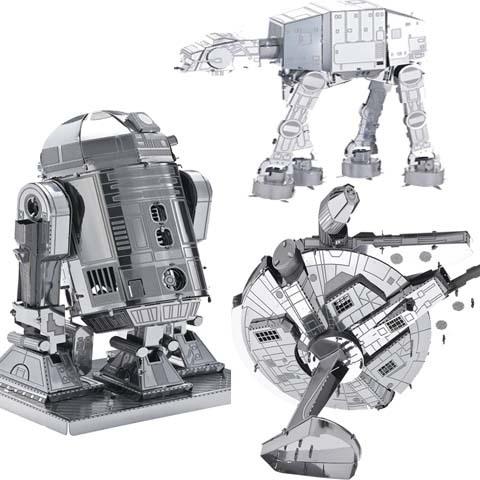 3pcs Star Wars Model Building Kits metal 2015 Russia metal earth 3D Nano metal DIY brinquedos para as crian juguetes educativos(China (Mainland))