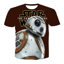 New Star Wars : The Force Awakens 3D Print T-shirt BB-8 Cotton Unisex Tee Shirts Short Sleeve Casual Homme Loose Summer Tops