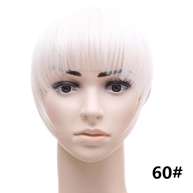 Jeedou короткий передний аккуратный челка клип короткая заколка для волос прямые 60#.1_