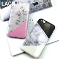 LACK For iPhone 6 6s Plus Marble Soft TPU Phone Case Shock Proof Fashion geometric joint
