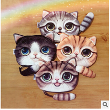 Free shipping 2015 autumn new meow star tail decoration Plush purse wallet wholesale mobile phone bag stereo cat(China (Mainland))