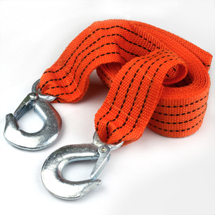 New 4M 3 Tons Car Tow Cable Towing Strap Rope With Hooks Emergency Heavy Duty(China (Mainland))