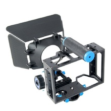 Buy Handheld 3 1 DSLR Rig Set Camera Cage+Follow Focus+Matte Box Canon 5D2 5D3 6D 7D 60D 70D Film Making Studio Accessories for $99.90 in AliExpress store
