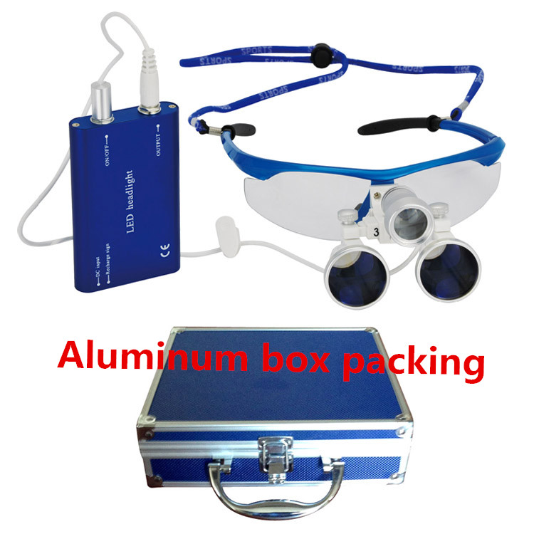 Hot sell Dental Instructment 2 5x 420mm Dental loupes surgical magnifier optical glasss with CE