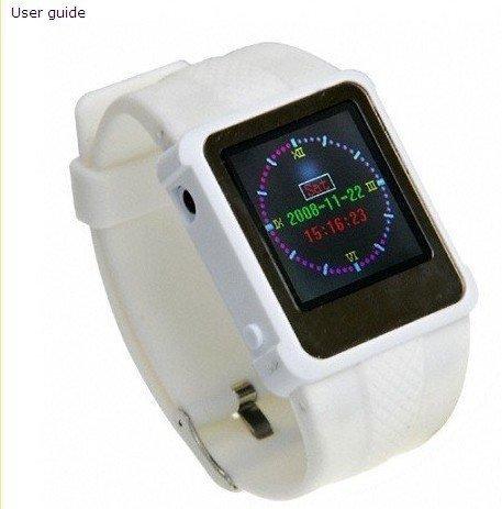 2GB memory Q888 Black video MP4 Watch Wrist watch ,Examination watch , examination functions+ebook(China (Mainland))