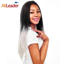 Buy AliLeader Products Silky Straight Hair Wig Ombre Blonde Red Green Gray Afro Anime Wigs Black Women Kanekalon Synthetic Wig for $15.99 in AliExpress store