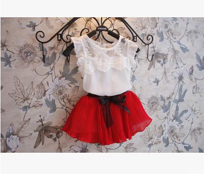2015 New Girls Princess Elsa Dress + T shirt 2 Pcs Set 2-10 Age Layered Tutu Dress Sets Clothing Sets Girls fashion lace suits(China (Mainland))