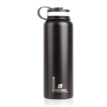 1000ML Stainless Steel Insulated Vacuum Cup Sports Water Bottle Black Hot New Arrival Vacuum Flasks(China (Mainland))