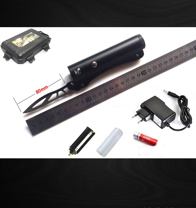 High power E17 XML T6 2000 lumen knife self defense Led flashlight torch lamplight by 2 pcs 18650 battery + charger + gift box<br><br>Aliexpress