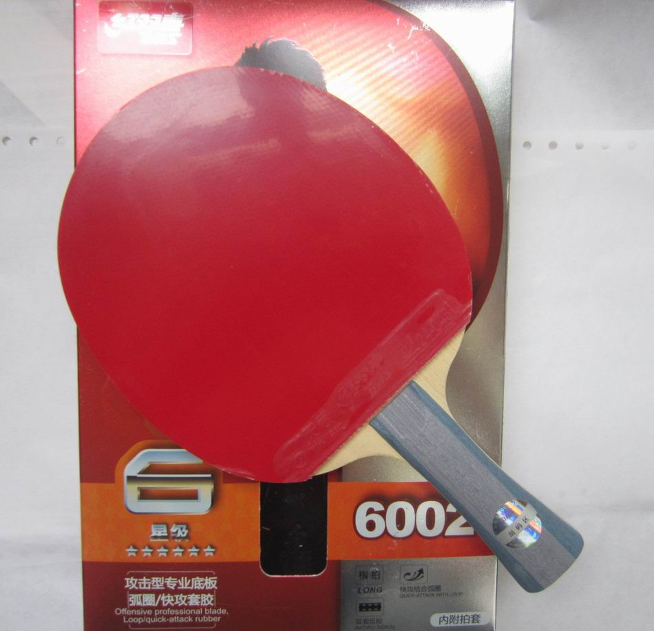 Original DHS 6002 (6002, 6 STAR) Table Tennis Racket with Case racket sports indoor sports(China (Mainland))