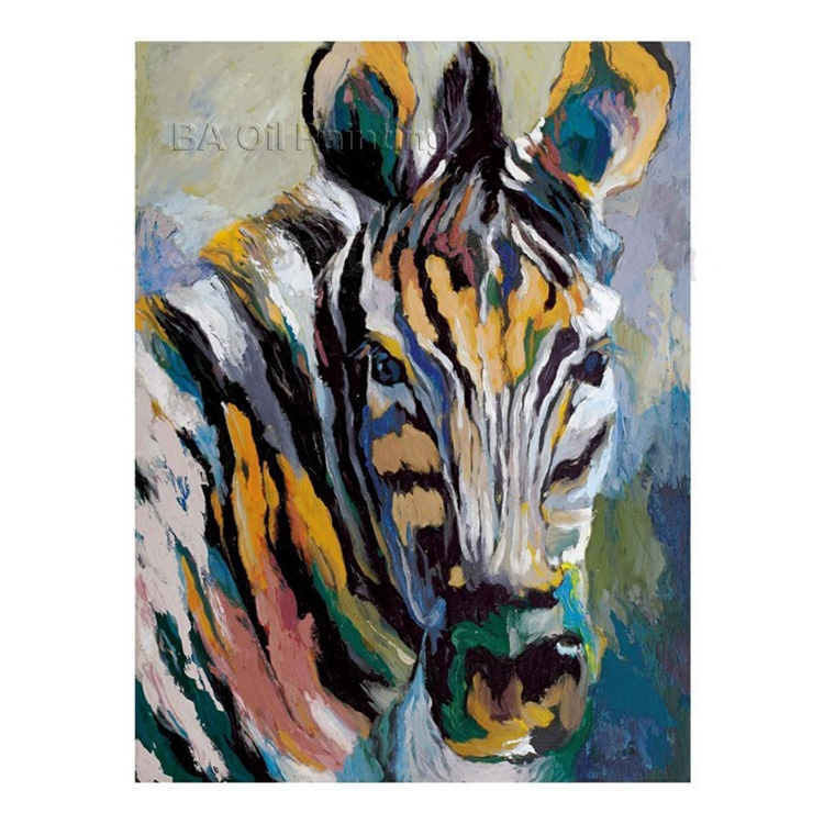 100% of hand-painted oil painting zebra horse in all modern abstract art family adornment wall art without frame(China (Mainland))