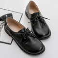 Plus Size 31 43 2016 British Style Women Loafer Patent Leather Women s Shoes Round Toe