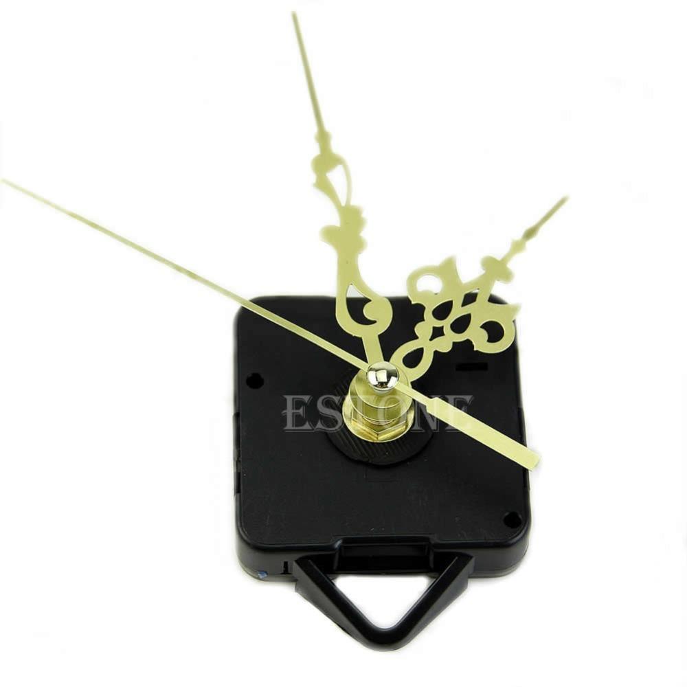 Free Shipping Quartz Clock Movement Mechanism Gold Hands DIY Replace Repair Parts Kit New(China (Mainland))