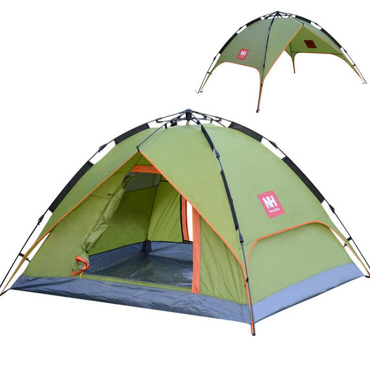 Outdoor tent 3-4 people Package speed automatic open flashing double 2 bunk family camping equipment automatic speed open  ZP008<br><br>Aliexpress
