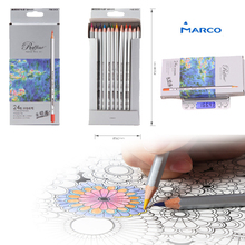 Buy Marco Fine Art lapis de cor 24 colored Drawing Pencils Drawing professional Sketches School Supplies Pencil for $13.14 in AliExpress store