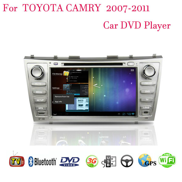 Quad Core 1024*600 Android 4.4.4 Fit Toyota CAMRY 2007 2008 2009 2010 2011 Car DVD Player GPS TV 3G Radio WIFI Bluetooth(China (Mainland))