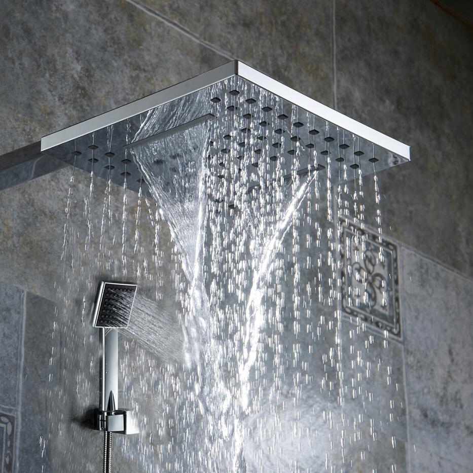 BR 9903 Bathroom Shower Nozzle Pressure Rain Type Shower Head Waterfall Type