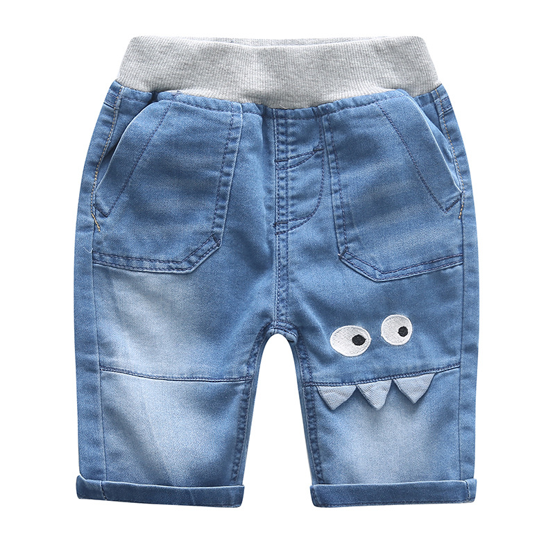 New summer pants casual denim shorts boys jeans short cotton kids clothing childrens shorts pants baby cartoon style(China (Mainland))