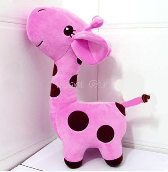 "Hot Sell Kawaii Gifts Stuffed Plush Giraffe Animals Deer Kids Toys Giraffe Plush Happy Family 18cm/7.2"" b11 SV001401(China (Mainland))"