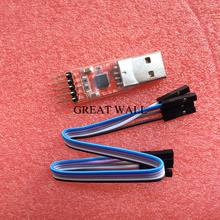1pcs CP2102 module USB to TTL serial UART STC download cable PL2303 Super Brush line upgrade for arduino(RED)