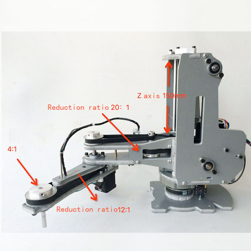 Numerical control mechanical arm/Harmonic reducer/Stepper motor/Four shaft palletizing robot manipulator - westerrc store