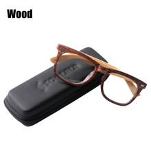 SOOLALA marco de bambú de madera de gran tamaño para hombres gafas de lectura con borde completo para damas presbicia gafas de vidrio de lectura + 0,5 1,5 Para 4,0(China)