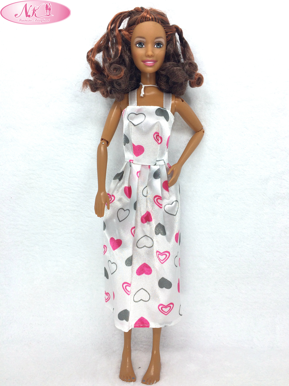 NK One Pce Doll Dress Beautiful Maxiskit Simple Style Handmade Party Clothe Casual Dress For Barbie Doll Best GirlsGift 001E<br><br>Aliexpress