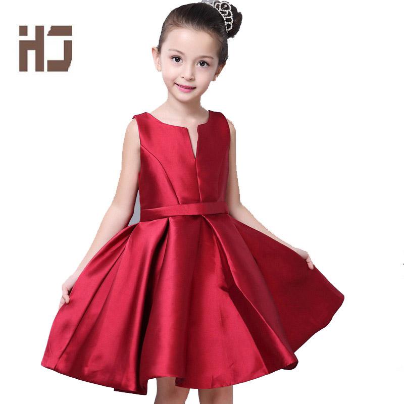 Girls Dresses New Summer Princess Ball Gown White red Dress Baby Kids Clothes Children Vestidos Girls Party Wedding Dresses qz33<br><br>Aliexpress