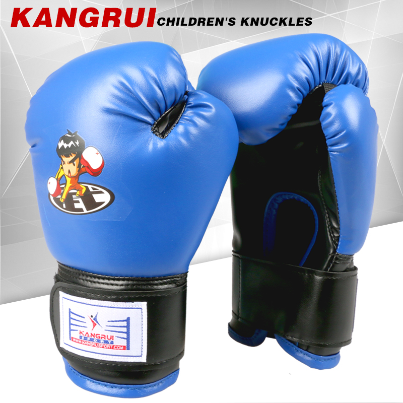 2016new high quality artificial leather 8oz Child boxing glove kick MMA fighting training kids children Carton gloves funny toy(China (Mainland))