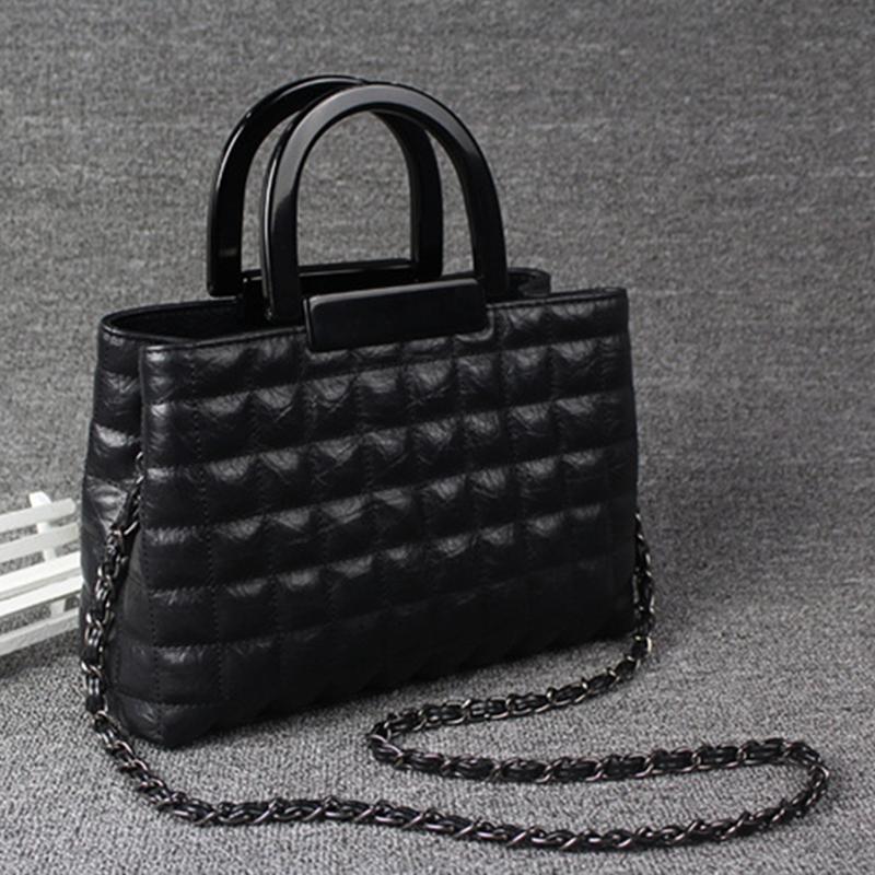 2016 classic women fashion genuine leather lattice Crossbody bags designer messenger Bag handbags