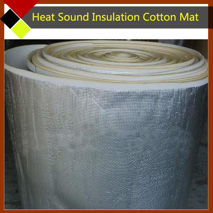 "Free Shipping ! 20cm x100cm 8""x40"" Aluminum Foil Car Heat Sound Insulation Cotton Material Deadener Soundproof Deadening(China (Mainland))"