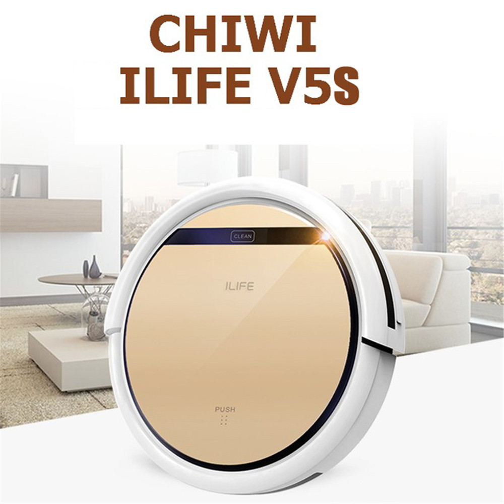 Chuwi Ilife V5S Robotic Vacuum Cleaner for Home Cordless Robot Dust Cleaner 0.3L Water Tank Capacity 2 in 1 Wet Dry Vacuum 2016(China (Mainland))