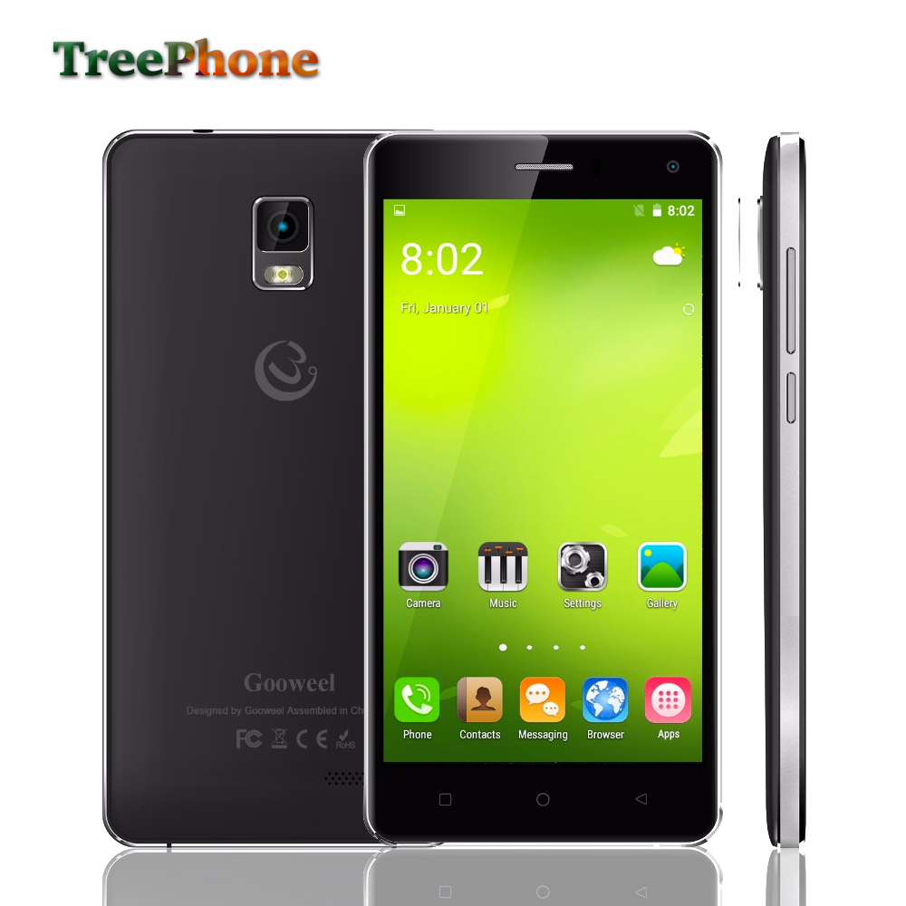"""Gooweel M13 Plus 4G smart phone 5.0"""" HD screen Quad core android 5.1 mobile cell phone GPS 8MP camera 1GB + 8GB Free Flip Case(China (Mainland))"""