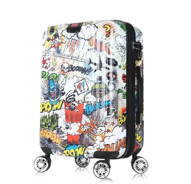 55lloow personalized doodle trolley luggage travel bag trend universal wheels password box - Online Store 903572 store