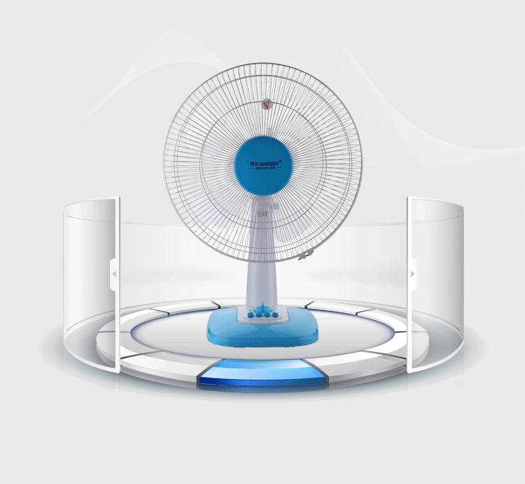 Small Box Fans : Brand desktop box fans turn page quiet dormitory small fan