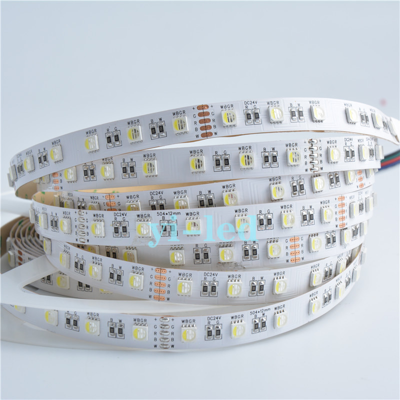 Wholesale 50m 10x5M DC24V SMD 5050 RGBW LED Strip Light 4 Colors in 1 LED RGB+ White / Warm White White PCB NP IP30 12MM PCB(China (Mainland))