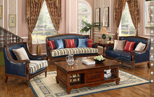 American Antique style living room sofa set in Italy genuine leather 805(China (Mainland))