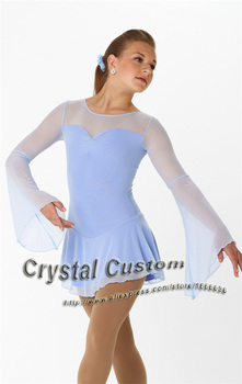 Hot Sales Girls Figure Skating Dresses Beautiful New Brand Ice Figure Skating Dress For Competition DR2782