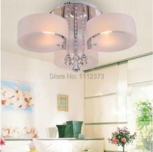 Acryl kristall-kronleuchter verchromt mit 3* e27 led birne lampe(China (Mainland))