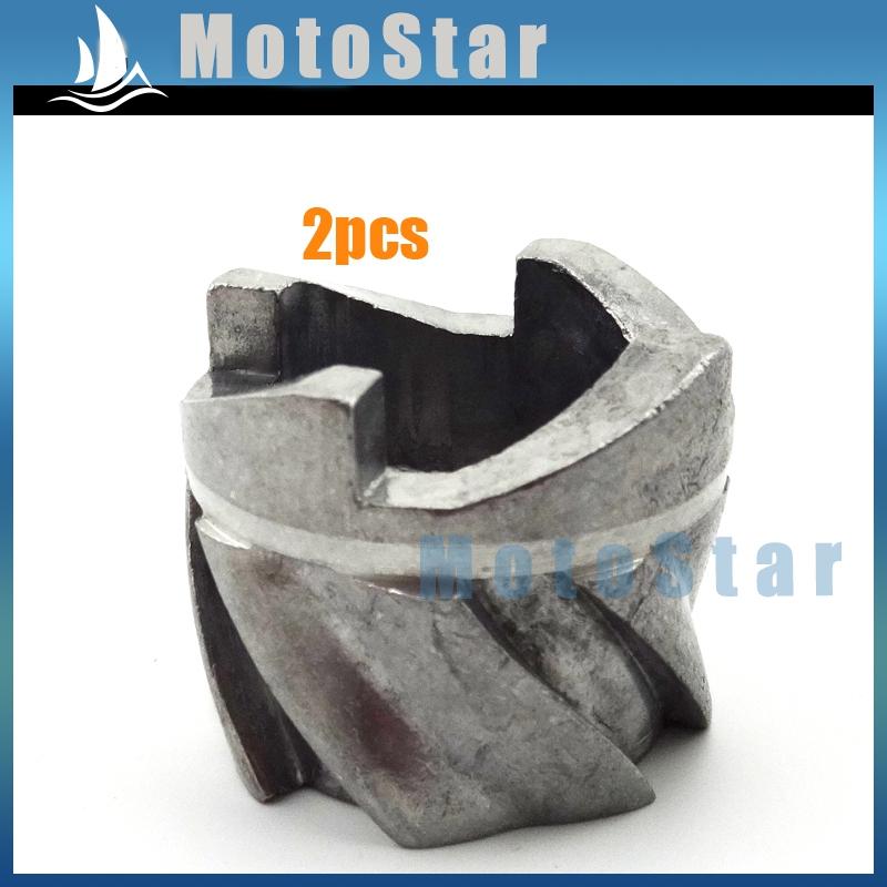 2pcs Mini Moto Recoil Pull Starter Claw Aluminum Pawl Cog For 47cc 49cc Engine Pocket Bike Dirt Kids Quad ATV Buggy Go Kart(China (Mainland))