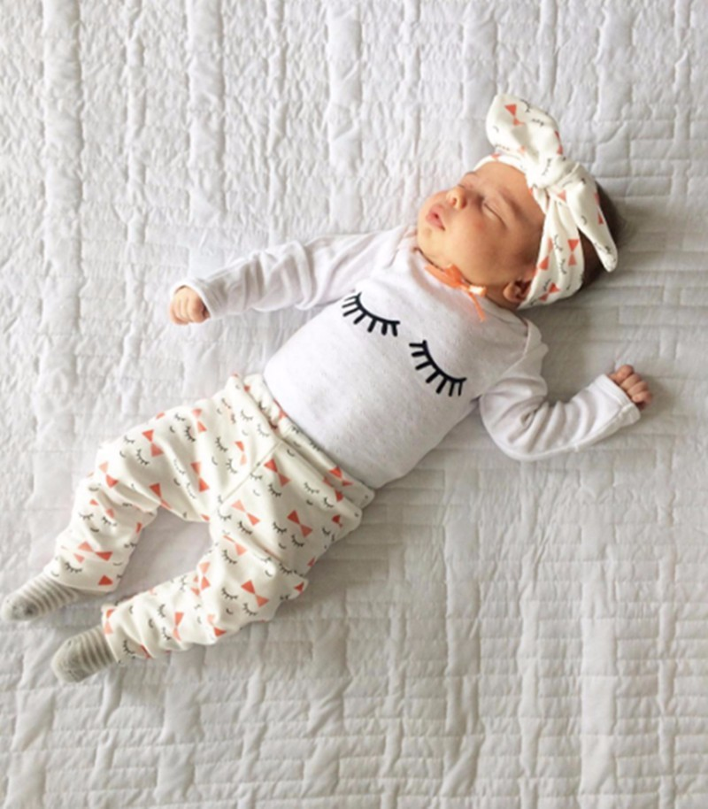 New 2017 baby boy clothes infant clothes cotton letter printed long sleeve t-shirt + pants 2pcs suit baby girl clothing sets