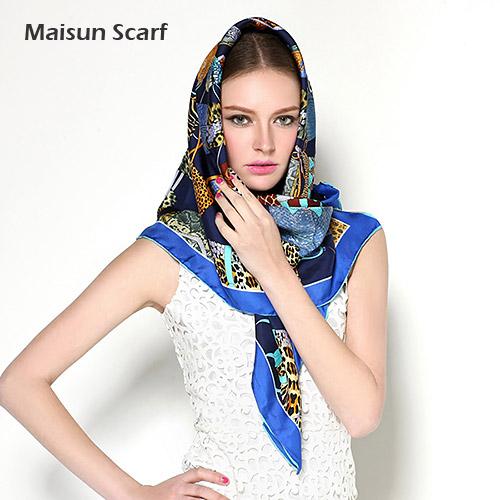 2014 New arrival brand design fashion women accessory scarf square silk twill scarf(China (Mainland))