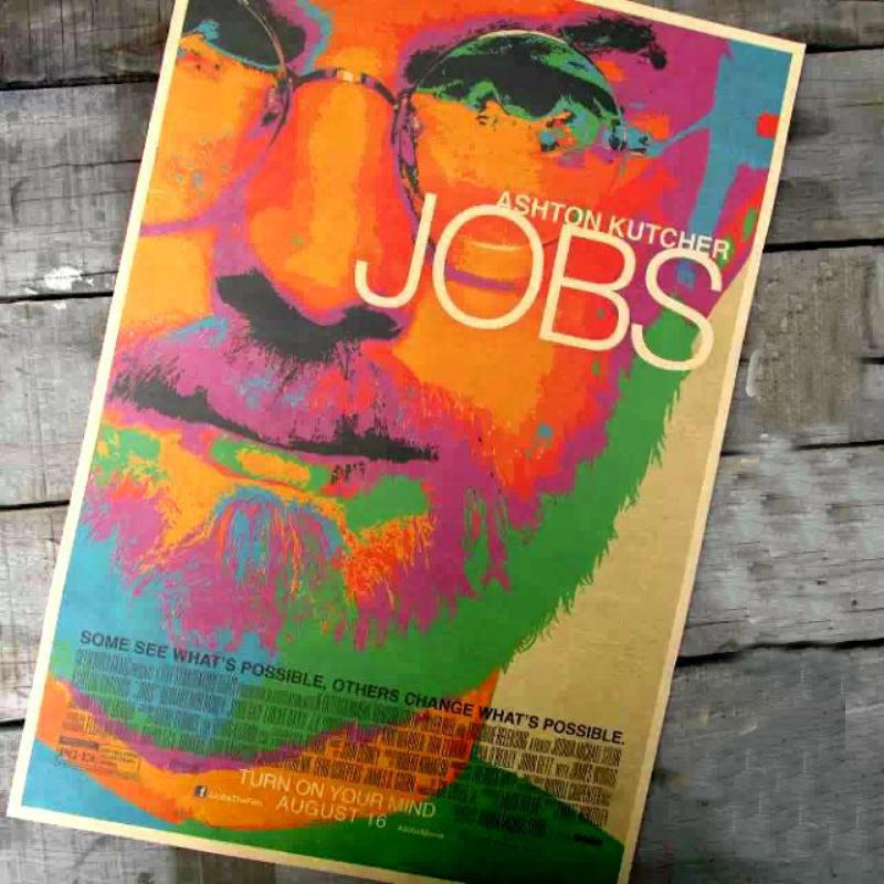 """FS-046 Retro vintage poster""""The world famous people steve jobs"""" wall sticker art craft home decoration living room(China (Mainland))"""