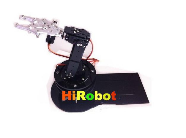 4dof robot arm intelligent 3D rotation manipulator +mechanical claw + large metal base+all metal plate /robot arm frame etc.(China (Mainland))
