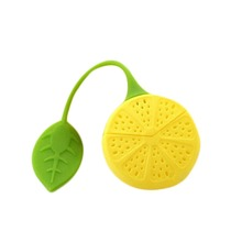Fashion Silicone Tea Strainer 2015 Lemon Design Loose Tea Leaf Strainer Herbal Spice Infuser Filter Tools Yellow HG-2146-YW(China (Mainland))
