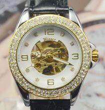 Ganador completamente automática reloj mecánico mujeres de personalidad de moda para mujer reloj con el reloj de diamantes regalo j273