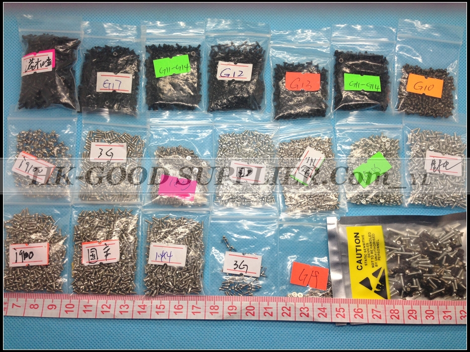 4000pcs screw for iphone 4/3 For Nokia for Samsung for Motorola and so on mobile phone screws the T5/T6 mixing package YL5129(China (Mainland))
